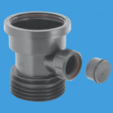 Plastic Soil Pipe to Cast Iron and Clay Adapter with Boss Black - 39050098